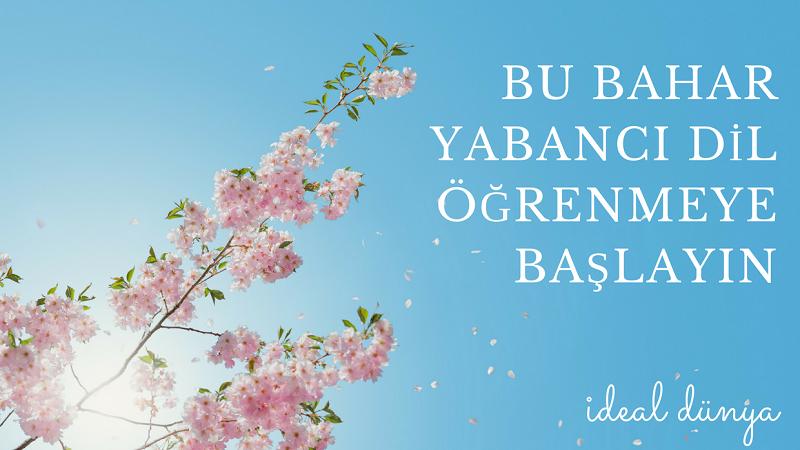 Bu bahar yabancı dil öğrenmeye başlayın